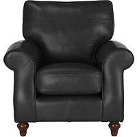 John Lewis Hannah Leather Armchair, Dark Leg