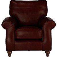 John Lewis Hannah Leather Armchair, Dark Leg