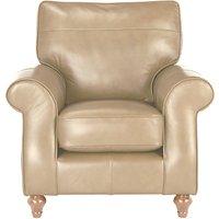 John Lewis Hannah Leather Armchair, Light Leg
