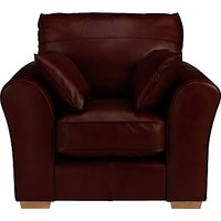 John Lewis Leon Leather Armchair, Light Leg