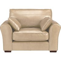 John Lewis Leon Leather Snuggler, Dark Leg