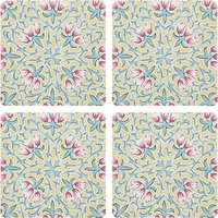 Liberty Fabrics & John Lewis Lodden Flower Coasters, Set of 4