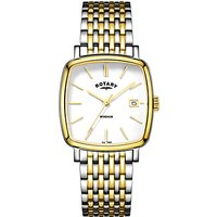 Rotary GB05306/01 Mens Windsor Date Two Tone Bracelet Strap, Watch