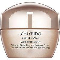 Shiseido Benefiance WrinkleResist24 Intensive Nourishing & Recovery Cream, 50ml