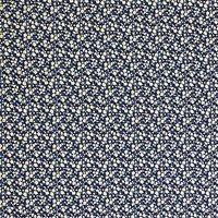 Oddies Textiles Shadow Floral Print Fabric, Navy