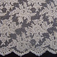Carrington Fabrics Bernice Bridal Lace Fabric, Ivory