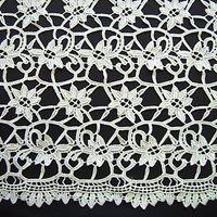 Carrington Fabrics Clare Embellished Lace Fabric, Ivory