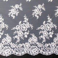 Carrington Fabrics Naomi Bead Bridal Lace Fabric