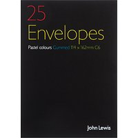 John Lewis & Partners C6 Envelopes, Pack of 20