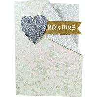 Paper Salad Mr & Mrs Wedding Card