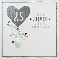 Carte Blanche Silver Anniversary Greeting Card