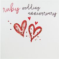Belly Button Designs Ruby Wedding Anniversary Greeting Card