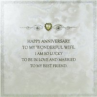 Five Dollar Shake Wonderful Wife Anniversary Card