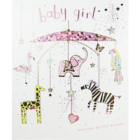 Woodmansterne Mobile Baby Girl Greeting Card