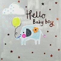 Paper Salad Hello Baby Boy Card