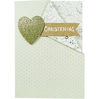 Paper Salad Christening Card
