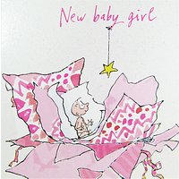 Woodmansterne New Baby Girl Greeting Card