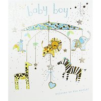 Woodmansterne Mobile Baby Boy Greeting Card