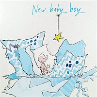 Woodmansterne New Baby Boy Greeting Card