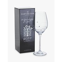 Dartington Crystal Glitz Wine Glass, Single, Clear