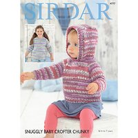 Sirdar Baby Crofter Chunky Jumper Knitting Pattern, 4777