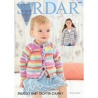 Sirdar Snuggly Baby Crofter Chunky Cardigan Knitting Pattern, 4779