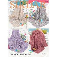 Sirdar Snuggly Rascal DK Baby Blanket Knitting Pattern, 4770
