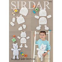 Sirdar Snuggly Spots DK Baby Accessories And Toy Knitting Pattern, 4745