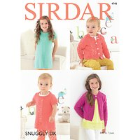 Sirdar Snuggly DK Children's Dress And Cardigan Knitting Pattern, 4748