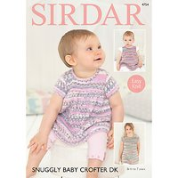 Sirdar Snuggly Baby Crofter DK Dress Knitting Pattern, 4754