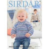 Sirdar Snuggly Baby Crofter Chunky Jumper Knitting Pattern, 4778