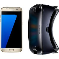 Samsung Galaxy S7 Smartphone, Android, 5.1, 4G LTE, SIM Free, 32GB with VR Headset