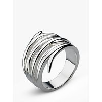 Kit Heath Twine Helix Wrap Ring, Silver