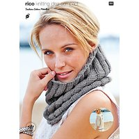 Rico Cotton Metallise Womens Snood and Jumper Knitting Pattern, 581