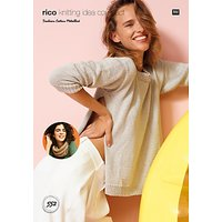 Rico Cotton Metallise Womens Jumper Knitting Pattern, 552