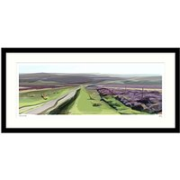 Jill Ray - Summer On The Moor Framed Print, 104 x 49cm