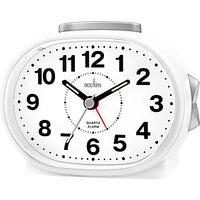 image-Acctim Lila Sweep Analogue Alarm Clock, White