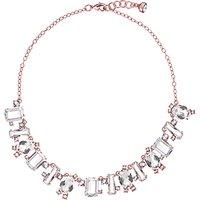 Ted Baker Crystal Baguette Pendant Necklace, Rose Gold