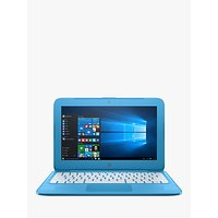 HP Stream 11-y000na Laptop, Intel Celeron, 2GB RAM, 32GB eMMC, 1TB OneDrive and Office 365 1 Year Subscription Included, 11.6, Aqua Blue