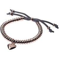 Adele Marie Heart Adjustable Bracelet, Silver