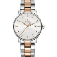 Rado R22860022 Unisex Coupole Classic Automatic Date Two Tone Bracelet Strap Watch, Silver/Rose Gold