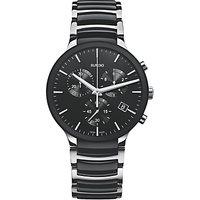 Rado R30130152 Mens Centrix Chronograph Date Bi-Material Bracelet Strap Watch, Silver/Black