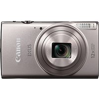 Canon IXUS 285 HS Digital Camera Kit, Full HD 1080p, 20.2MP, 12x Optical Zoom, 24x Zoom Plus, Wi-Fi, NFC, 3 LCD Screen With Leather Case & 16GB SD Card