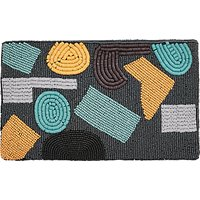 Jaeger Abstract Beaded Clutch Bag, Navy