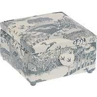John Lewis Heartwood Scenic Print Small Square Sewing Basket, Grey