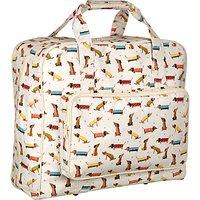 John Lewis Sausage Dog Print Sewing Machine Bag, Cream/Multi