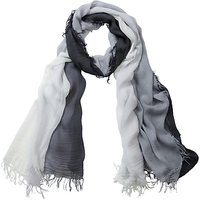 Pure Collection Aubrie Dip Dye Scarf, Grey
