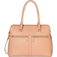 Modalu Pippa Classic Leather Grab Bag, Dusky Pink