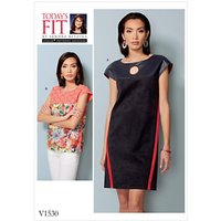 Vogue Women's Dress and Top Sewing Pattern, 1530