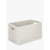 Croft Collection Rattan Basket, White